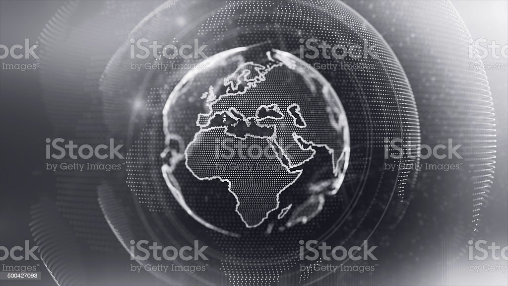 Digital World stock photo
