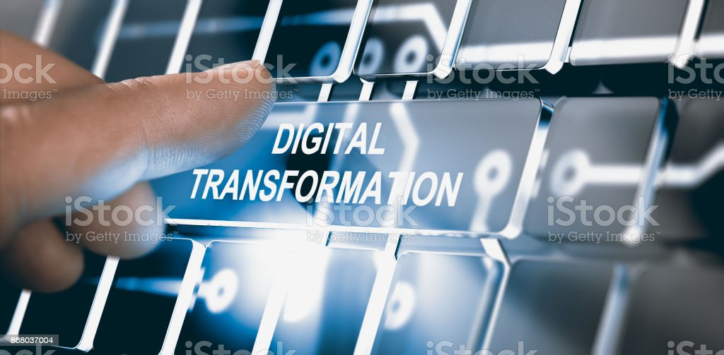 Digitalization, Digital Transformation Concept royalty-free stock photo