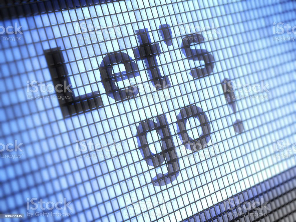 A digitalized depiction of the words let's go  royalty-free stock photo