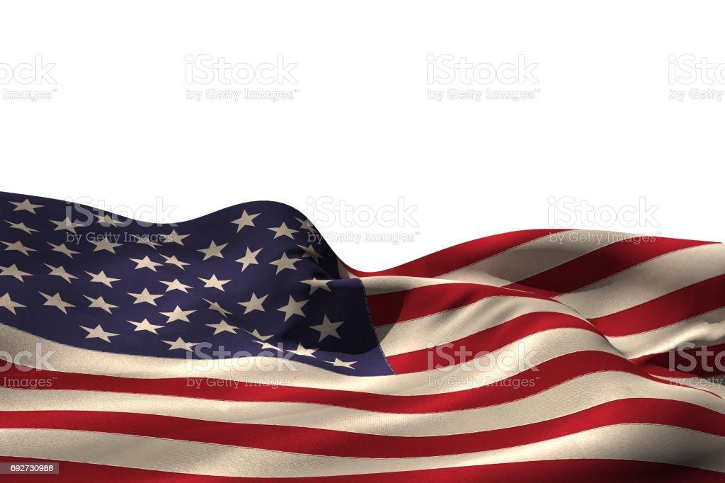 Digitally generated american flag rippling stock photo
