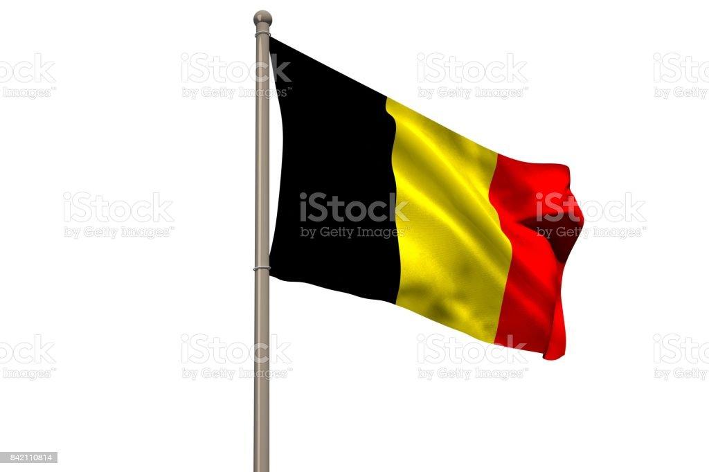 Numériquement généré drapeau national Belgique - Photo