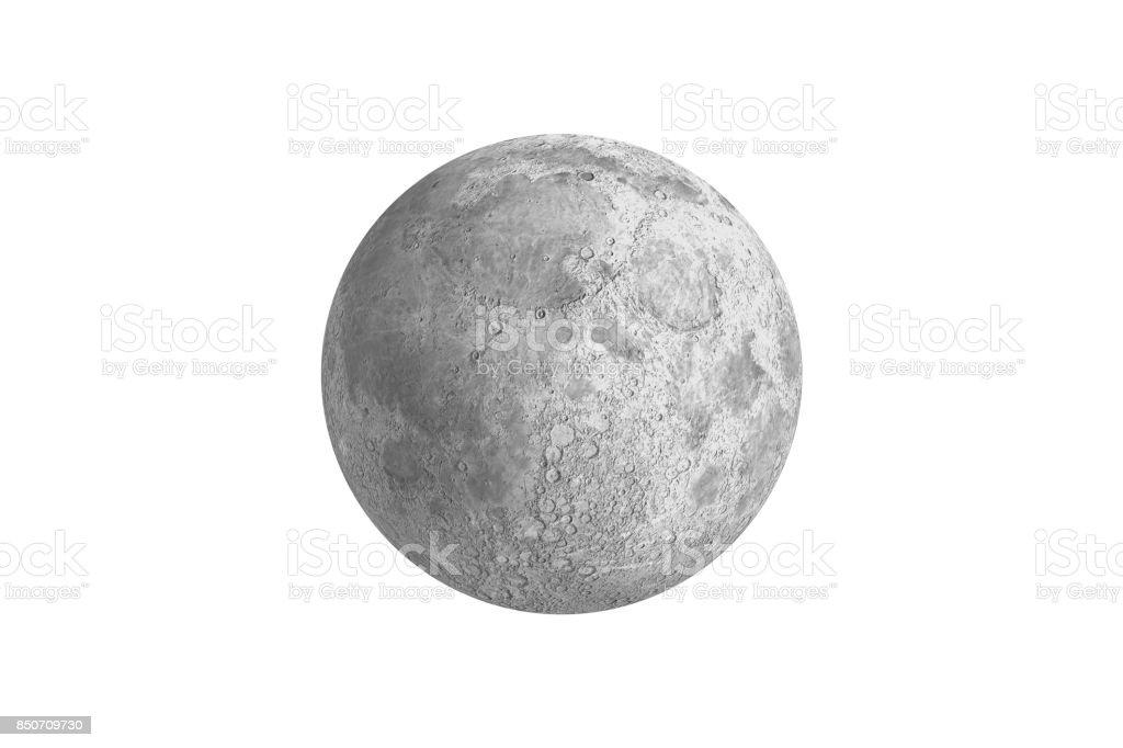 Digital generiert voll grauen Mond – Foto