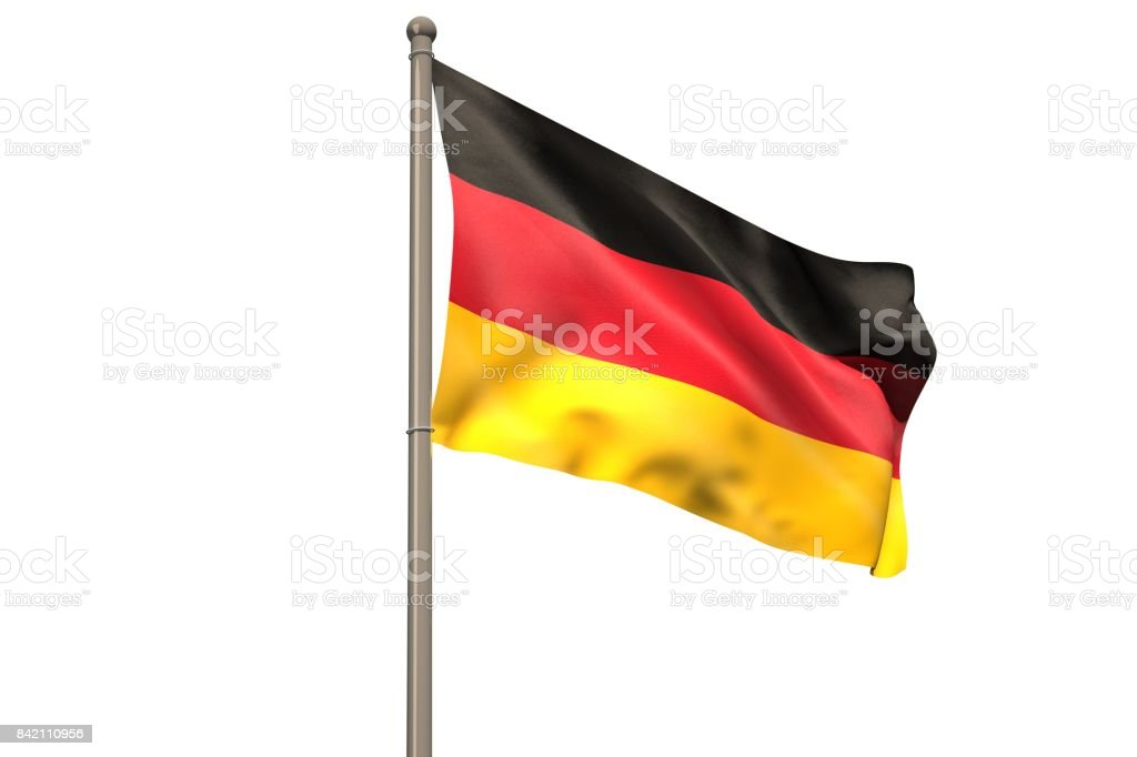 Digitally generated german national flag stock photo