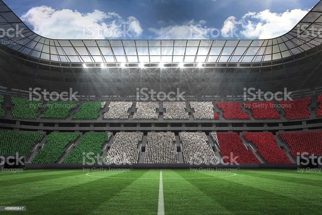 Generada digitalmente bandera nacional italiana - foto de stock