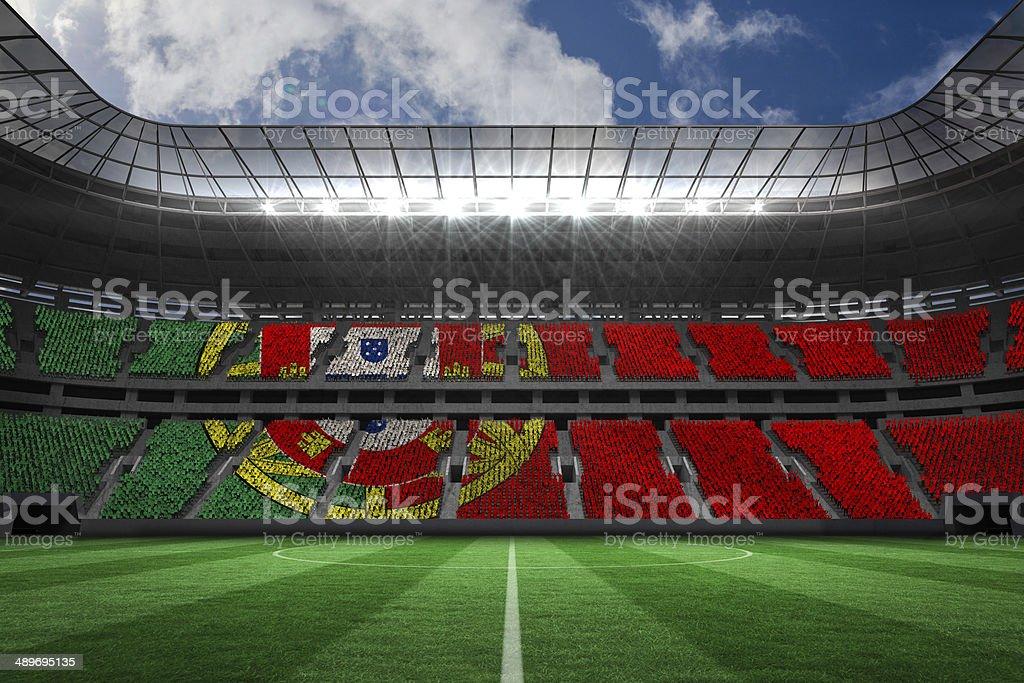 Português gerado digitalmente Bandeira nacional - foto de acervo