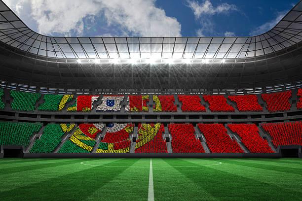 digitally generated portugese national flag - football portugal flag bildbanksfoton och bilder