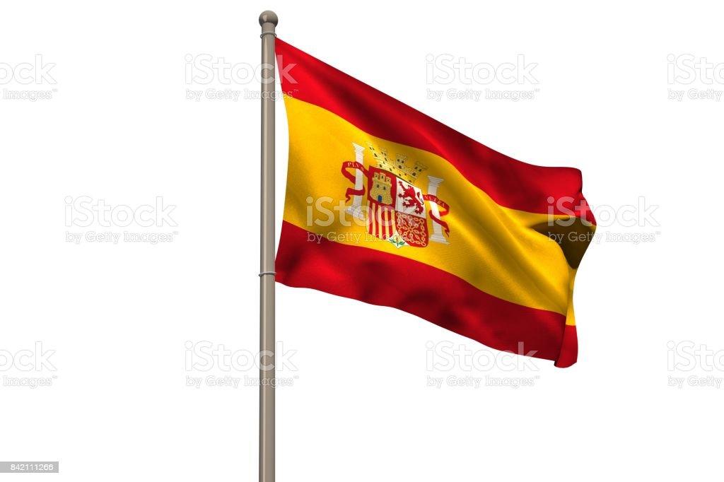 Digitalmente gerado bandeira nacional de Espanha - foto de acervo