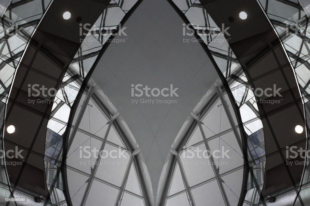 Digital Representa Fragmento Arquitectónico Con Vigas