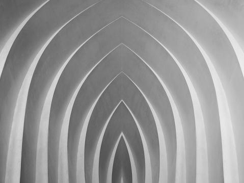 Digitally rendered architectural fragment