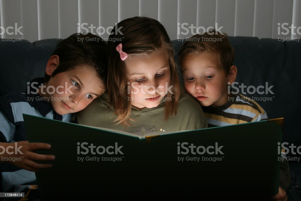 A digitally ruined photograph of story time royalty-free stock photo