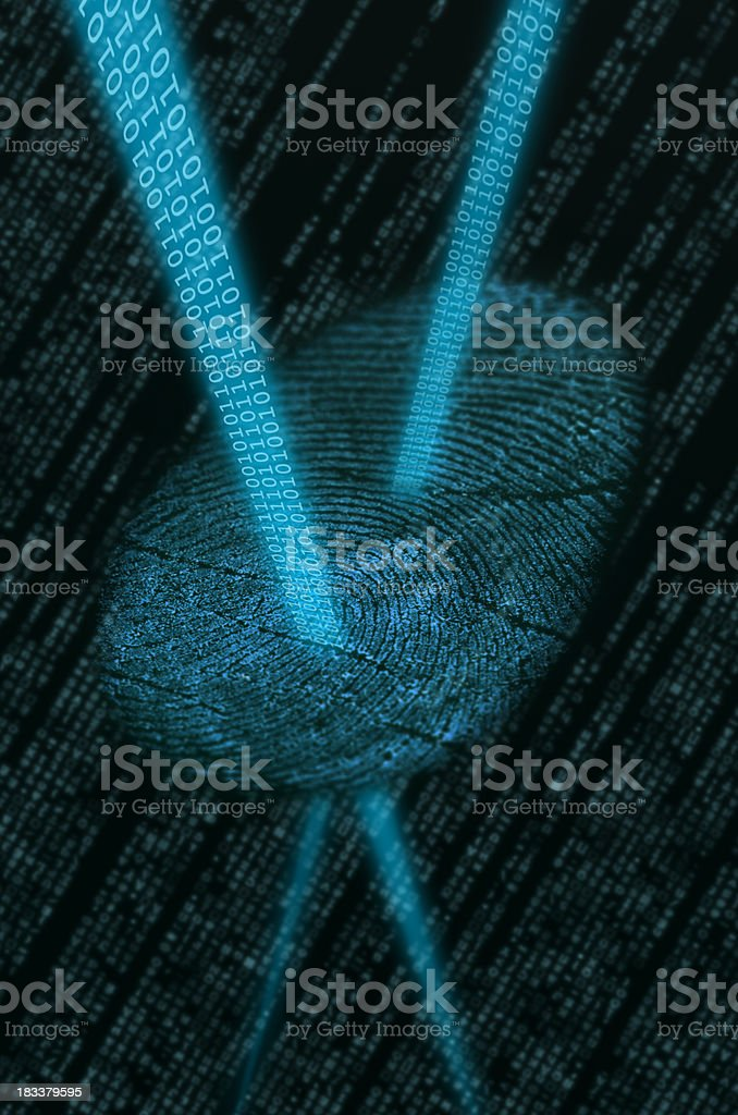 Digitizing fingerprint royalty-free stock photo