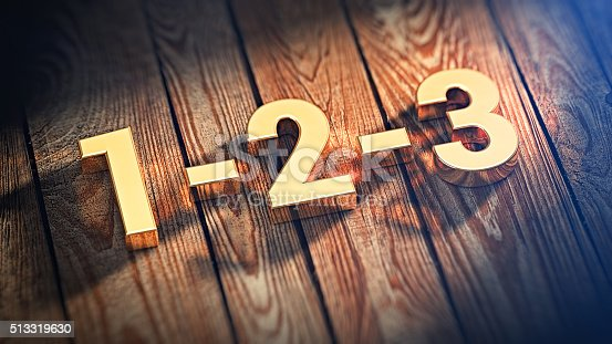 istock Digits 1-2-3 on wood planks 513319630