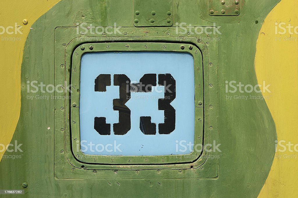 Digits on metallic background royalty-free stock photo