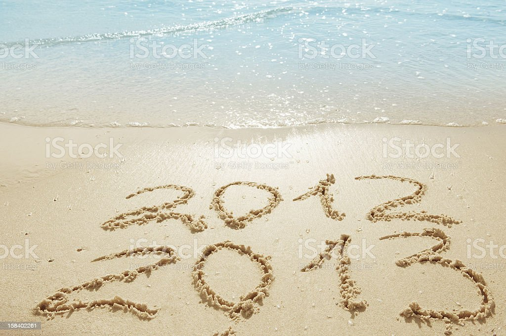 digits  on the sand stock photo
