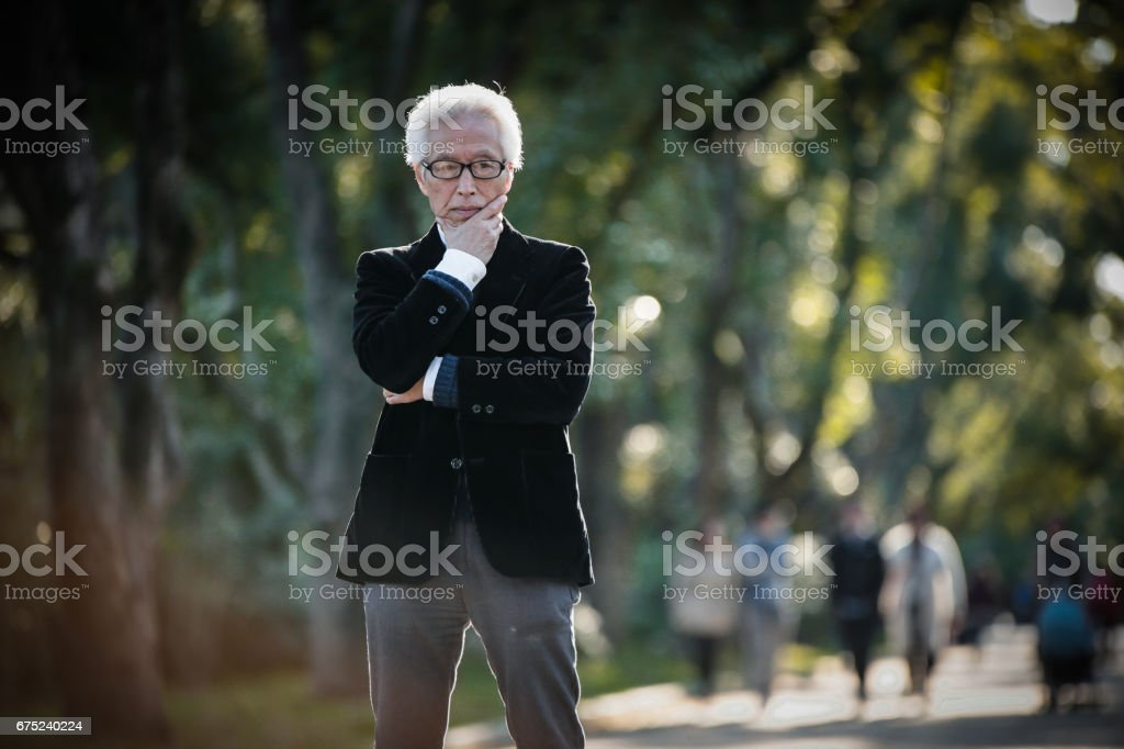 A dignified Japanese senior businessman royalty-free stock photo