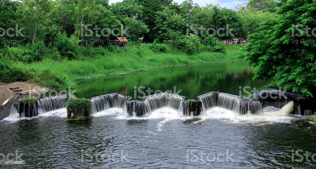 dike water river. stock photo