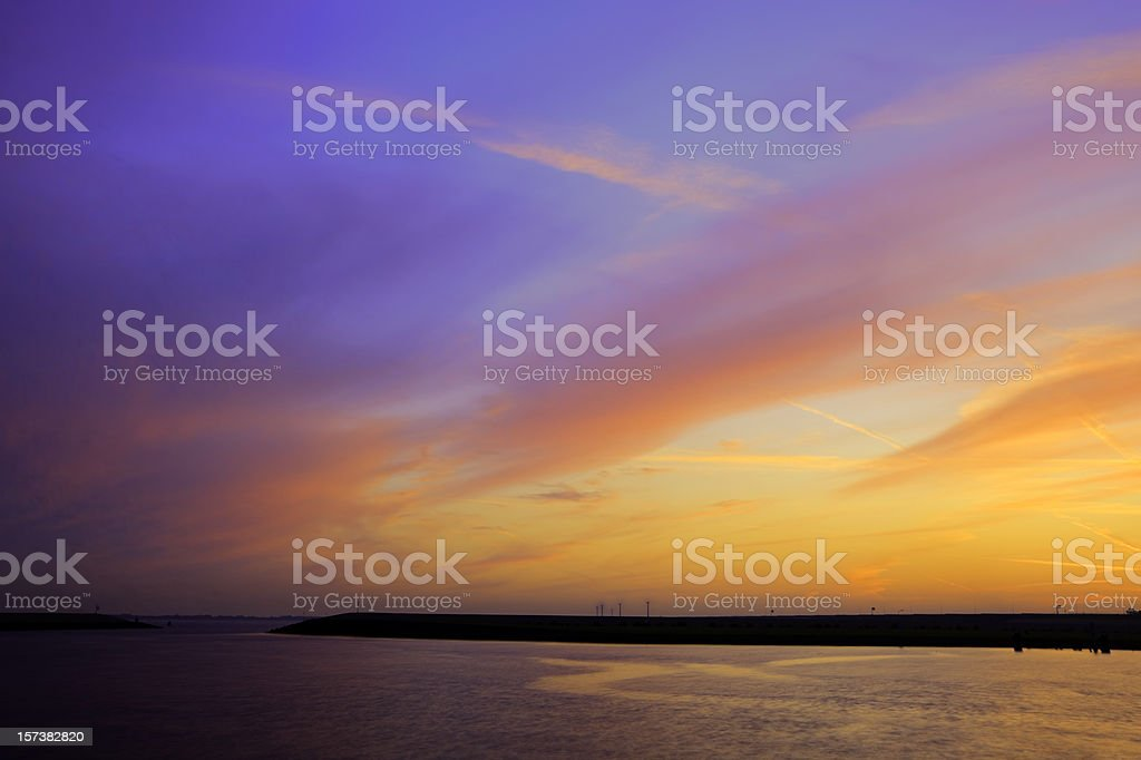 Dikes of Holland stock photo