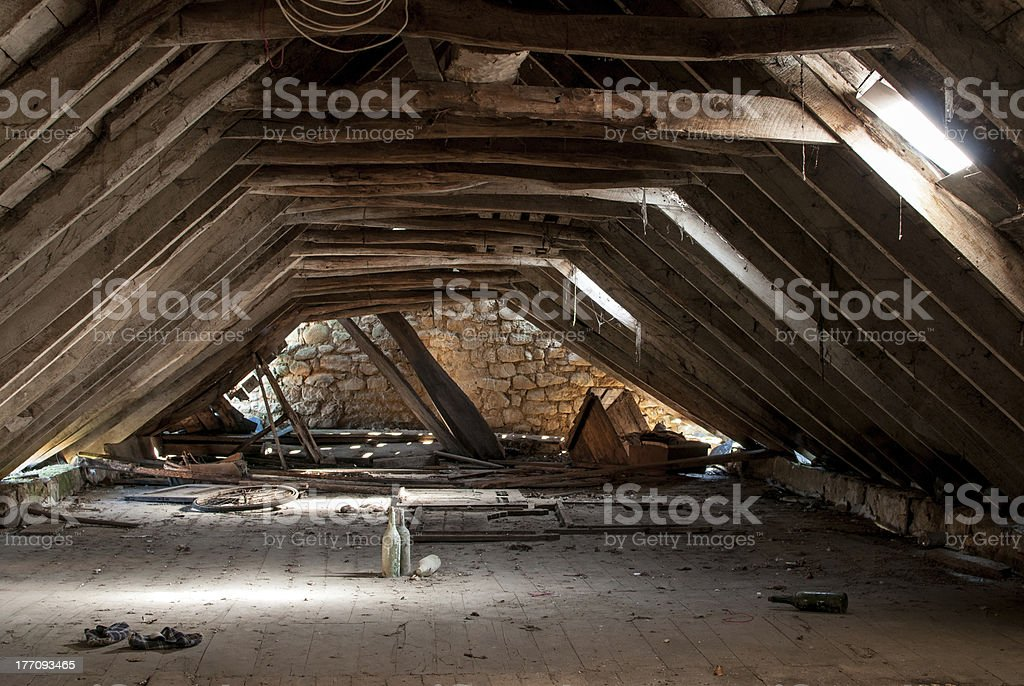 Heruntergekommene Viertel Dachgeschoß – Foto