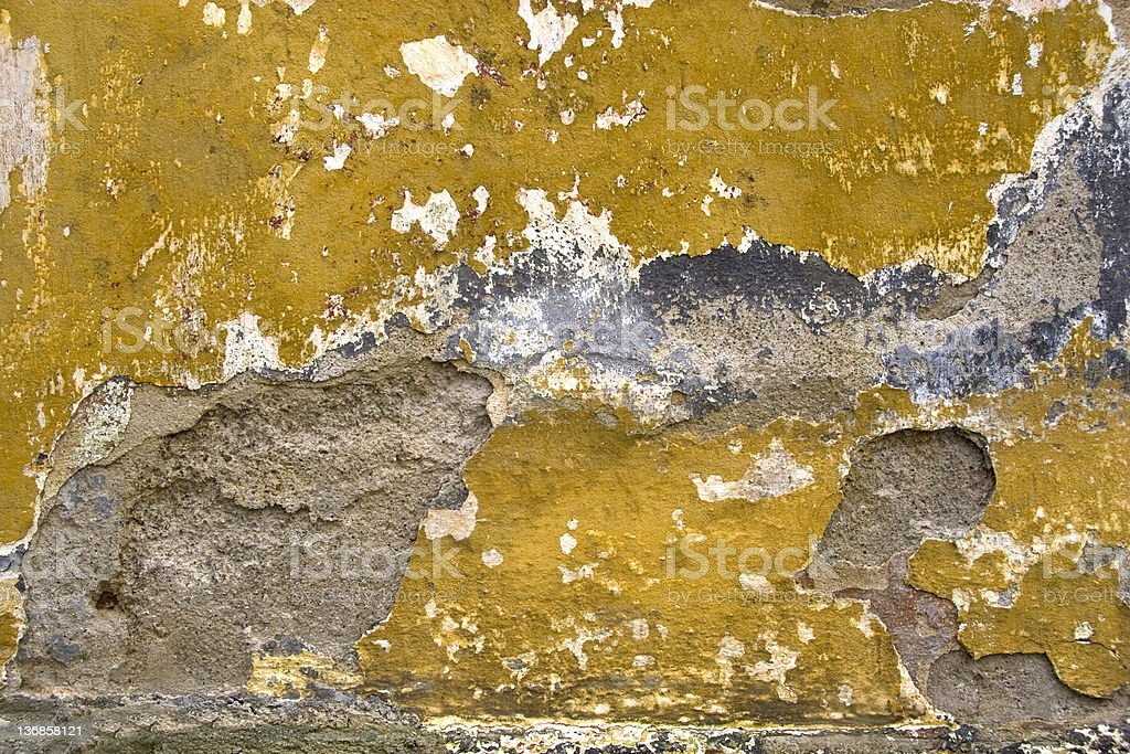 Dilapidated Wall Dilapidated and grungy wall. Backgrounds Stock Photo