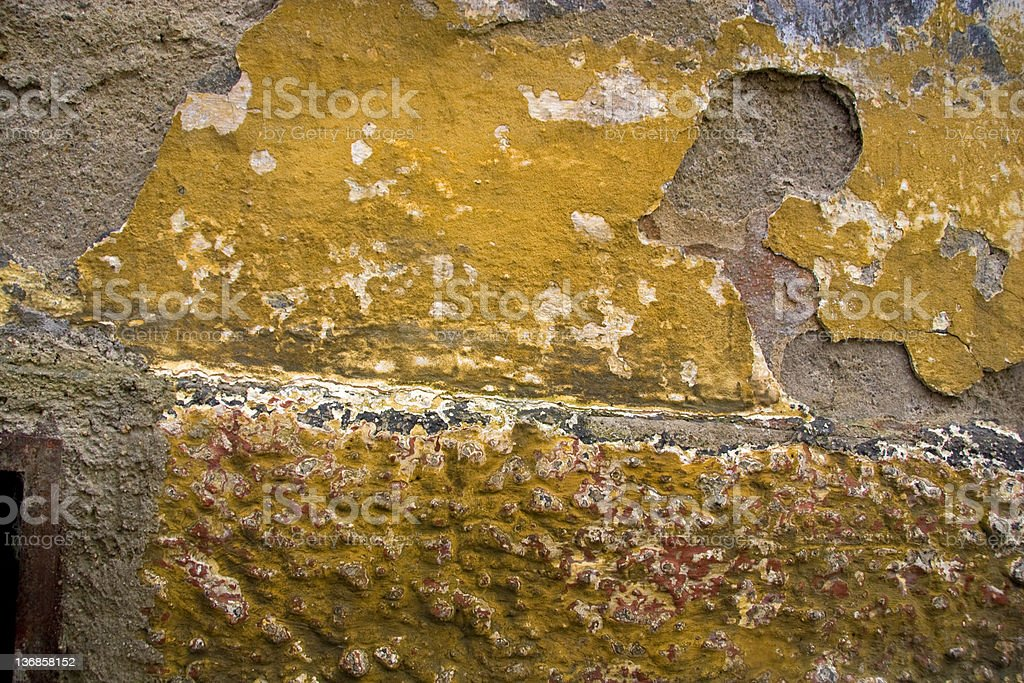 Dilapidated Wall Horizontal shot of a dilapidated and grungy wall. Backgrounds Stock Photo