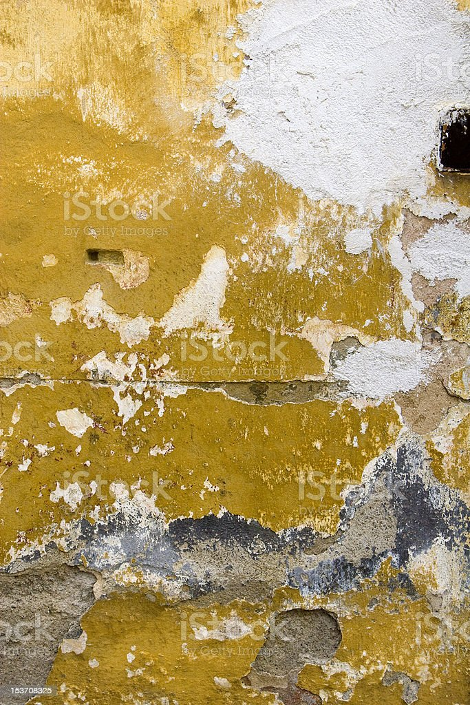 Dilapidated Wall Vertical shot of a dilapidated and grungy wall. Backgrounds Stock Photo