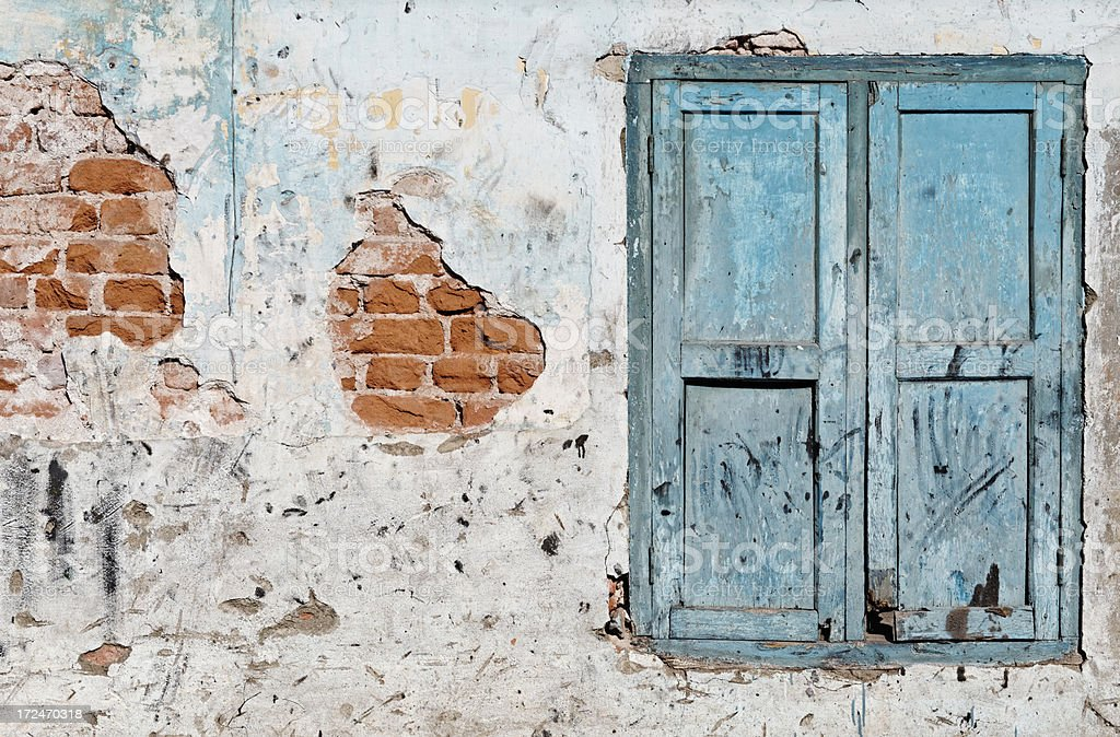 Dilapidated wall royalty-free stock photo