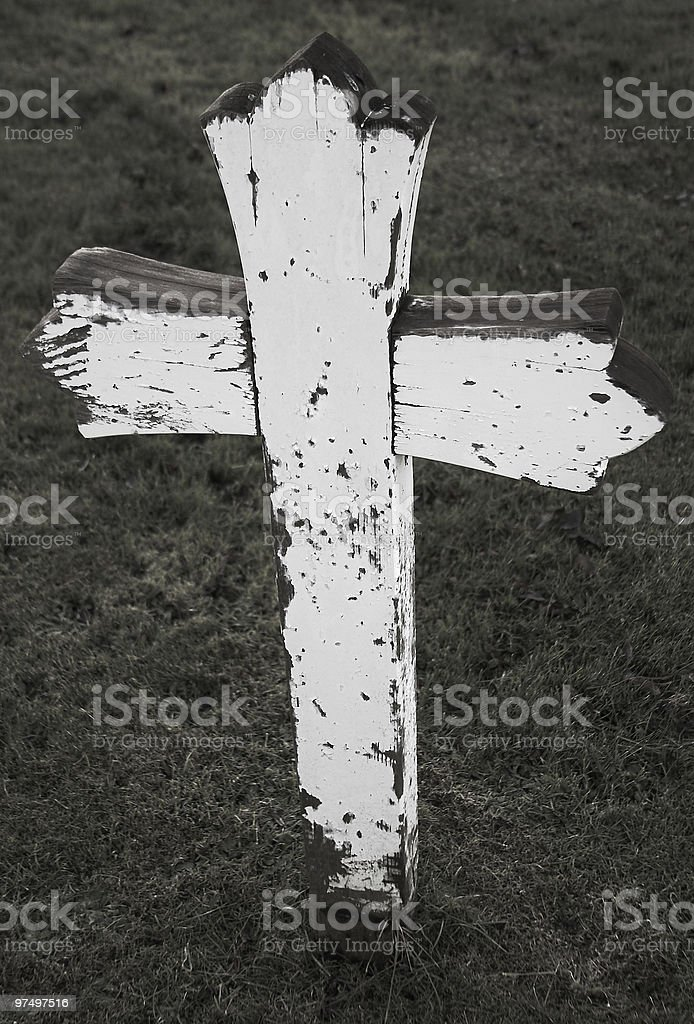 Dilapidated Wooden Cross royalty-free stock photo