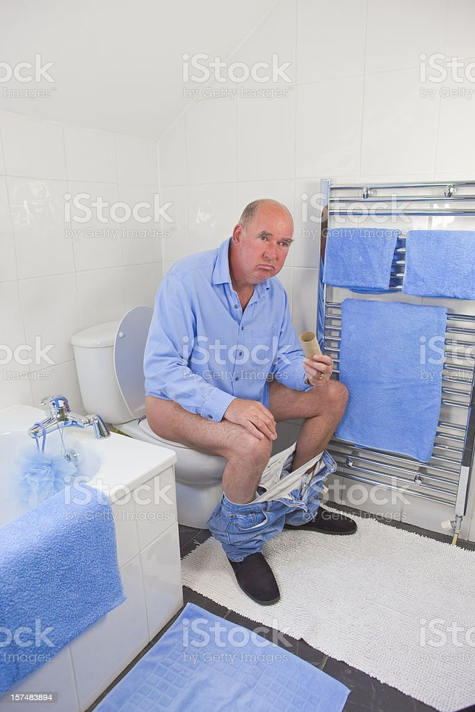 Dilemma In Blue And White stock photo