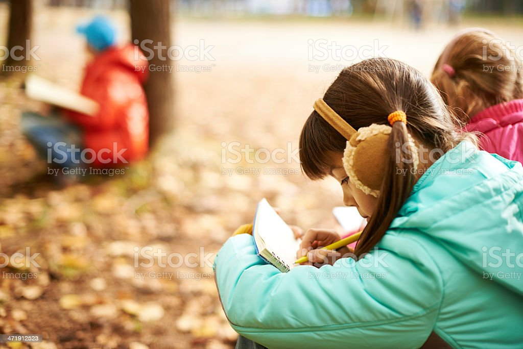 Diligent pupil royalty-free stock photo