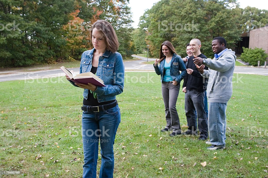 Diligent student stock photo