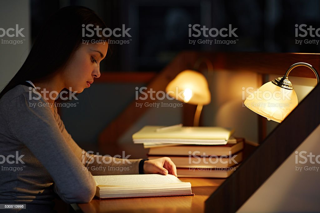 Diligent student stock photo