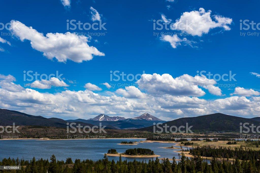 Dillon Reservoir Frisco Colorado stock photo