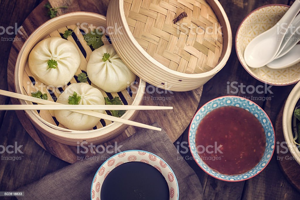 Dim Sum Dumplings stock photo