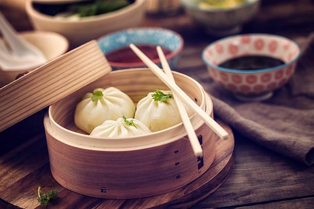 dim sum dumplings - dumplings stock photos and pictures