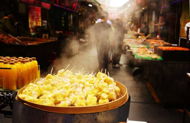 dim-sum - knödel kochen stock-fotos und bilder