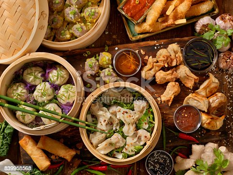 Asian Appetizers, Dumplings, Spring Rolls, Shrimp, Wontons, Dry Ribs and Sauces