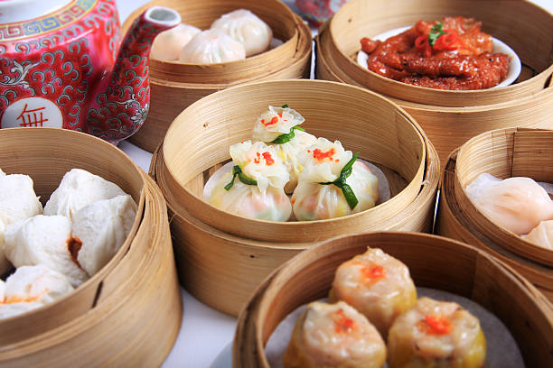 dim sum - chinese food stock photos and pictures