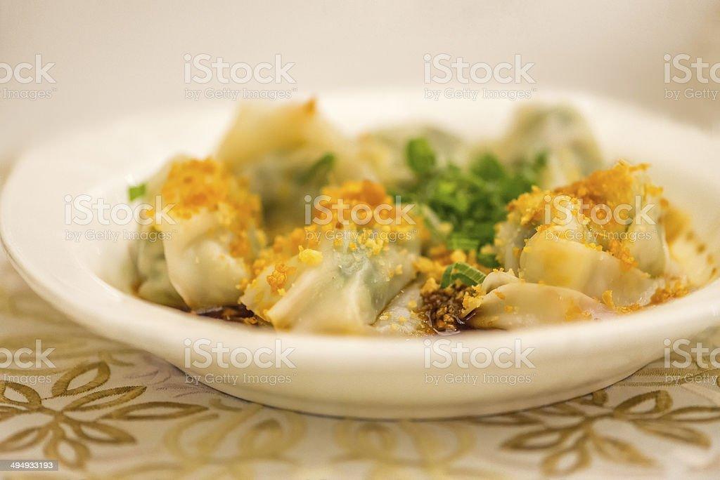 Dim Sum - Pork & Vegetable Dumplings royalty-free stock photo