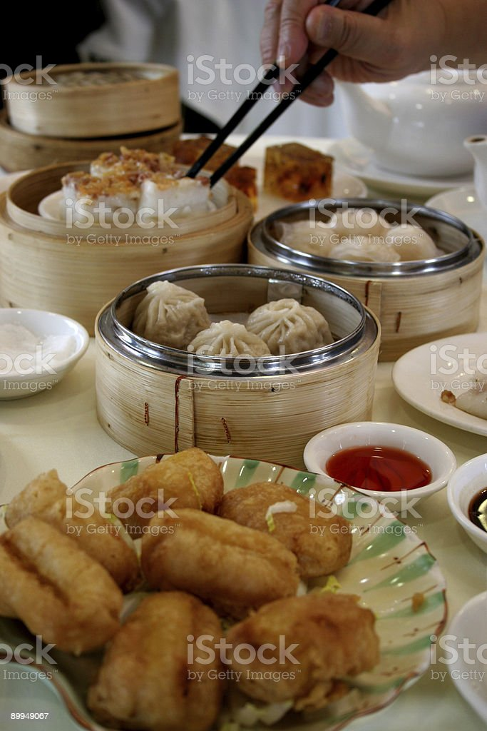 Dim Sum Table royalty-free stock photo