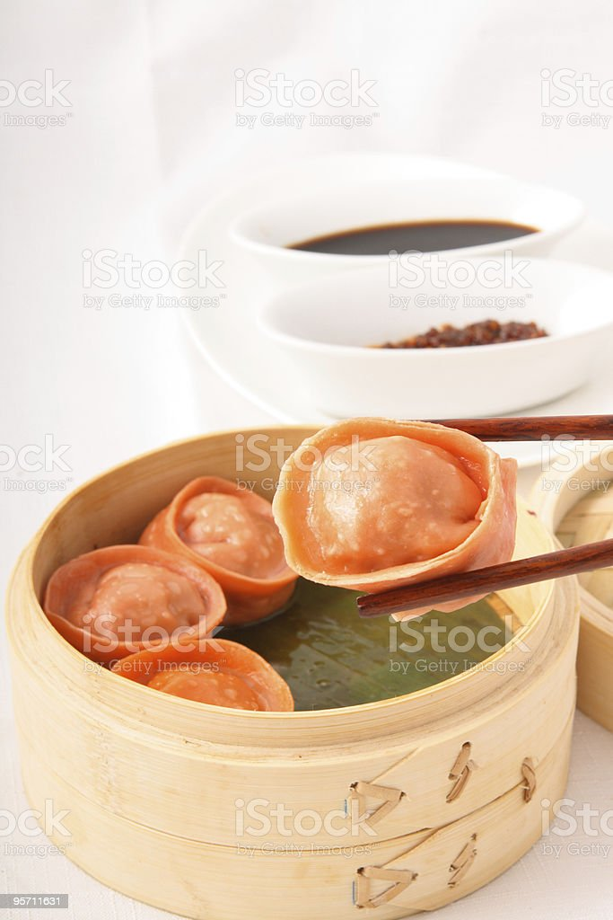 dim sums stock photo