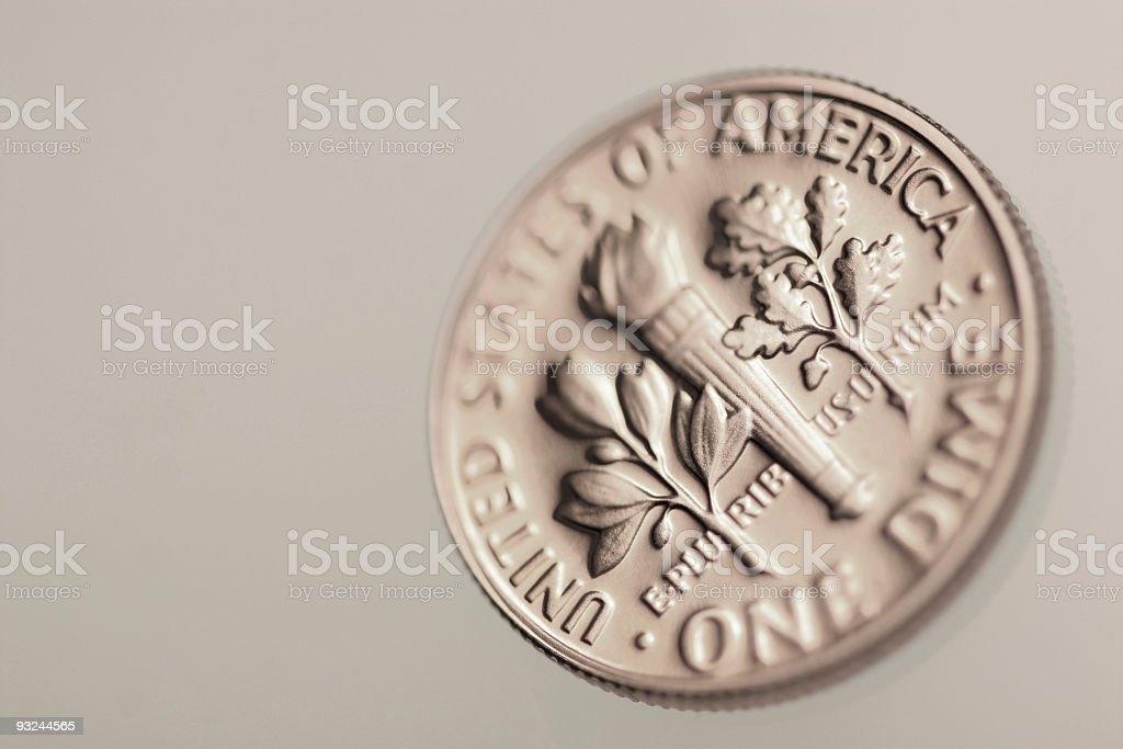 US dime royalty-free stock photo