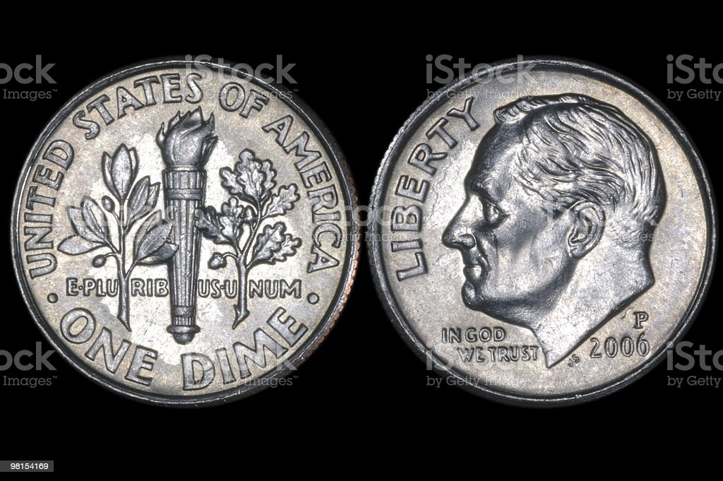 Dime Ten Cent Coin royalty-free stock photo