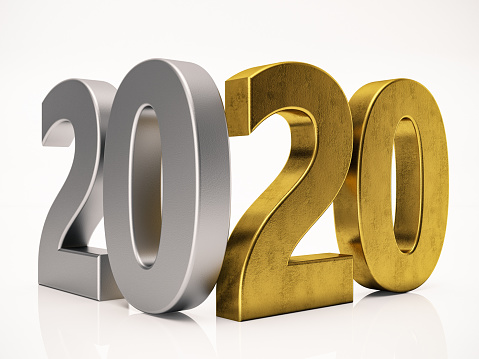 istock 3 Dimensional 2020 Text on White 1172722463