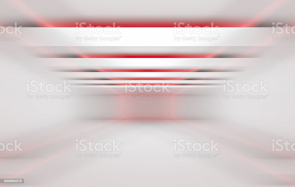 3 dimensional red and white background stock photo