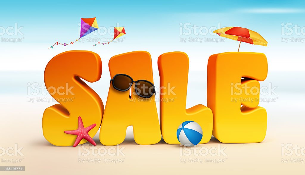 3d dimensional sale title words for summer stock photo more