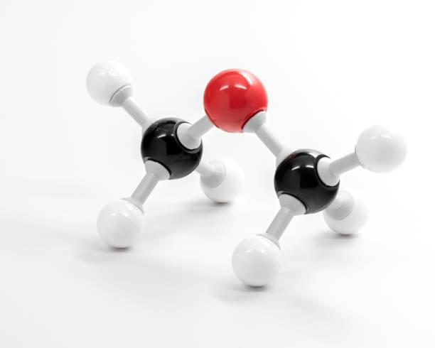 diméthyl éther chimie molécule modèle utilisé pour l'enseignement - éther photos et images de collection