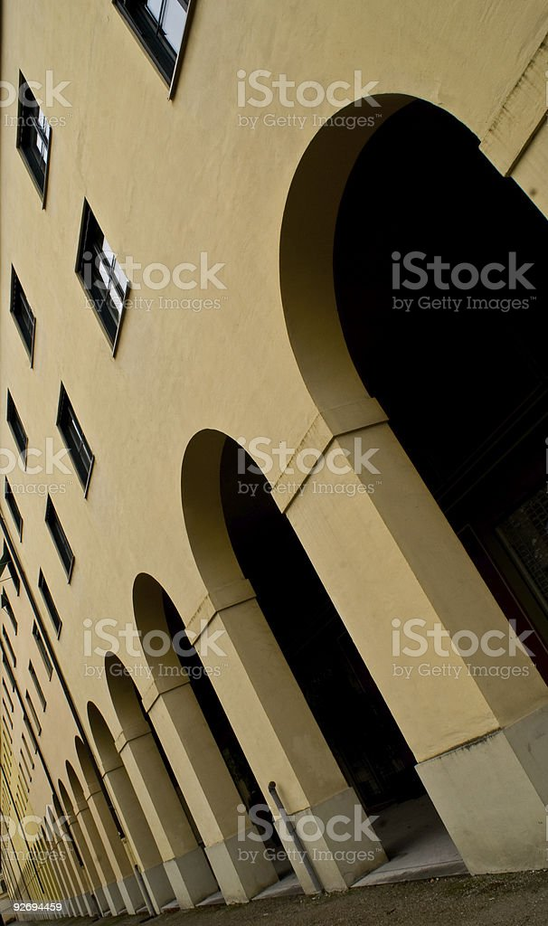 Diminishing arches royalty-free stock photo