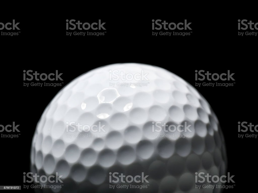 Dimples of a golf ball stock photo