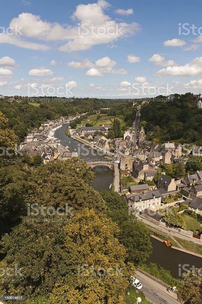 Dinan - The port on Rance's River royalty-free stock photo
