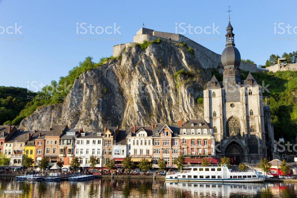 Dinant Ardennes Belgium stock photo